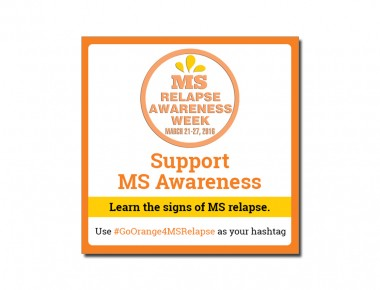 MS Awareness with Stroke and Drop Shadow