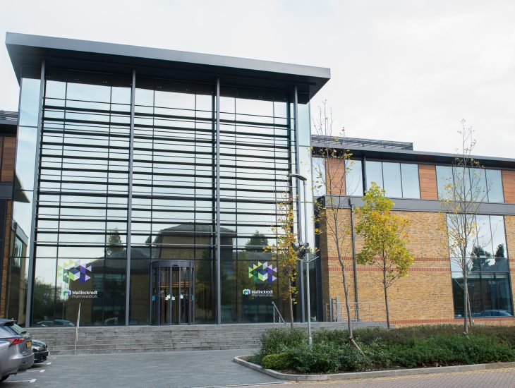 Front exterior of new office building in Staines-upon-Thames, UK